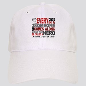 HERO Comes Along 1 Dad LUNG CANCER Cap