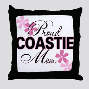 Proud Coastie Mom Throw Pillow