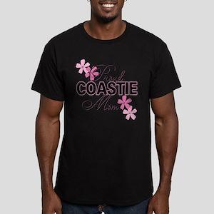 Proud Coastie Mom Men's Fitted T-Shirt (dark)