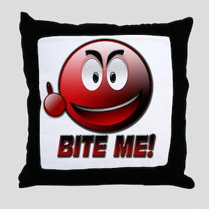 Bite me Throw Pillow