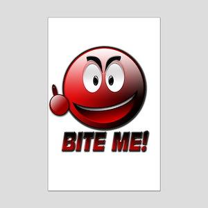 Bite me Mini Poster Print