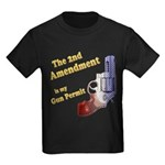 2nd Amendment Gun Permit Kids Dark T-Shirt