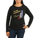 2nd Amendment Gun Permit Women's Long Sleeve Dark