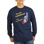 2nd Amendment Gun Permit Long Sleeve Dark T-Shirt