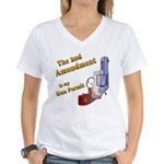 2nd Amendment Gun Permit Women's V-Neck T-Shirt