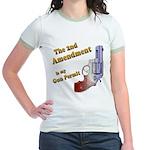 2nd Amendment Gun Permit Jr. Ringer T-Shirt