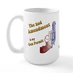 2nd Amendment Gun Permit Large Mug