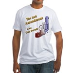 2nd Amendment Gun Permit Fitted T-Shirt