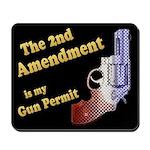 2nd Amendment Gun Permit Mousepad