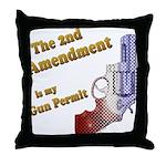 2nd Amendment Gun Permit Throw Pillow