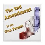 2nd Amendment Gun Permit Tile Coaster