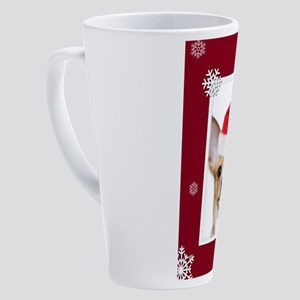 Christmas Chihuahua dog 17 oz Latte Mug