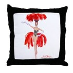 Luma Rouge Burlesque Showgirl Throw Pillow