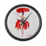 Luma Rouge Burlesque Showgirl Large Wall Clock