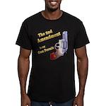 2nd Amendment Gun Permit Men's Fitted T-Shirt (dar