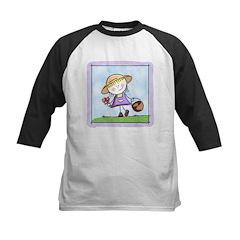 Garden Girl Kids Baseball Jersey