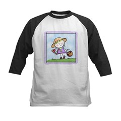 Garden Girl Kids Baseball Jersey