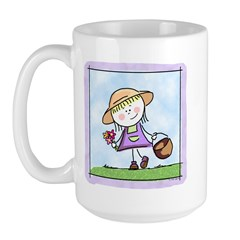 Garden Girl Large Mug