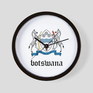 Batswanian Coat of Arms Seal Wall Clock