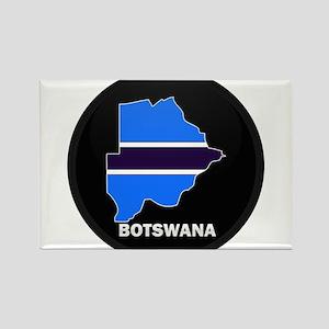 Flag Map of Botswana Rectangle Magnet
