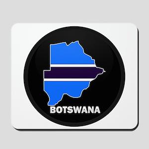 Flag Map of Botswana Mousepad