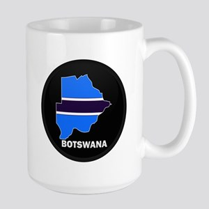 Flag Map of Botswana Large Mug