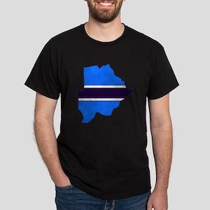 Botswana Flag Map Dark T-Shirt