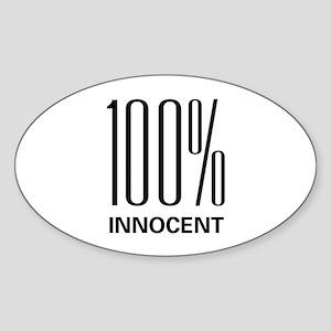 100 Percent Innocent Oval Sticker