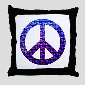 Peace Skulls Throw Pillow