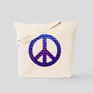 Peace Skulls Tote Bag