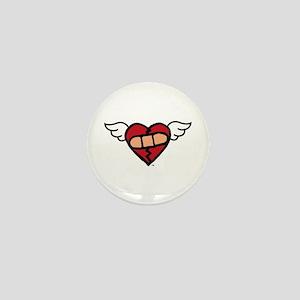 """""""Winged Heart"""" Mini Button"""