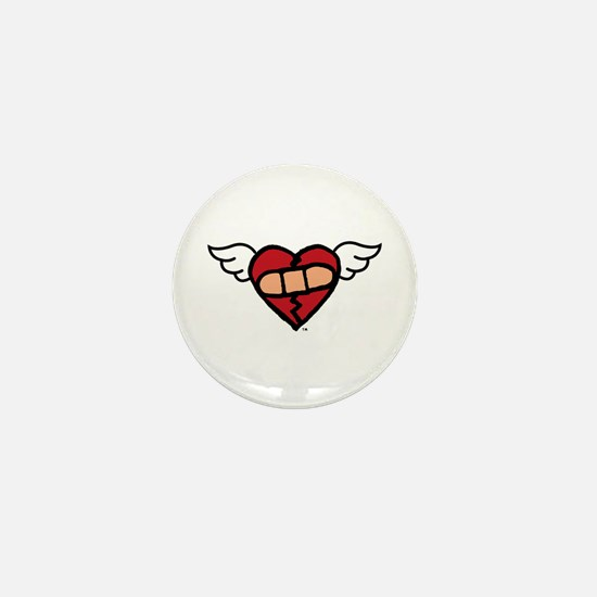 """Winged Heart"" Mini Button"