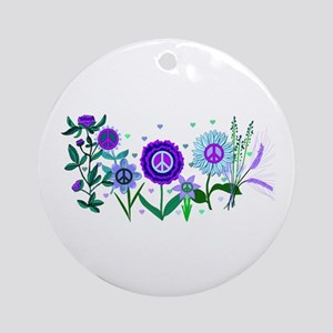Growing Peace Ornament (Round)