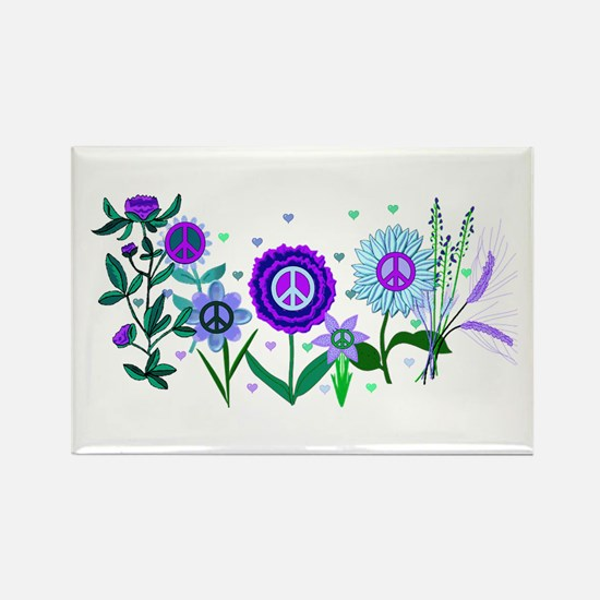 Growing Peace Rectangle Magnet