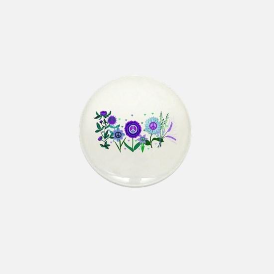 Growing Peace Mini Button