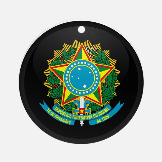 Coat of Arms of Brazil Ornament (Round)