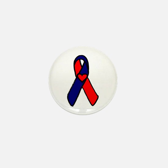 CHD Awareness Ribbon Mini Button