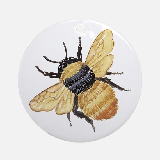 Bumble Bee Ornament Round