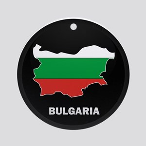 Flag Map of Bulgaria Ornament (Round)