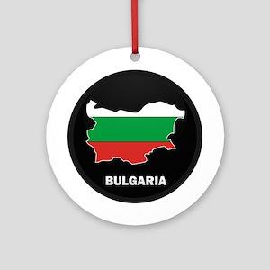 Flag Map of Bulgaria Ornament (Round)