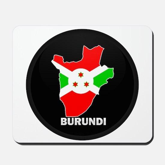 Flag Map of Burundi Mousepad