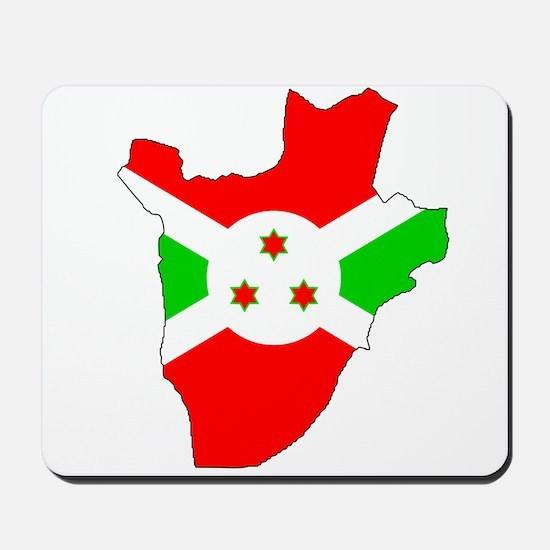 Burundi Flag Map Mousepad