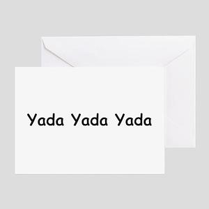 Yada Yada Yada Greeting Card
