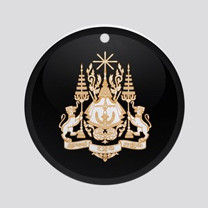 Coat of Arms of Cambodia Ornament (Round)