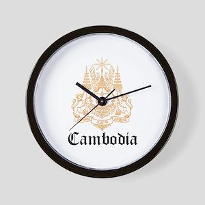 Cambodian Coat of Arms Seal Wall Clock