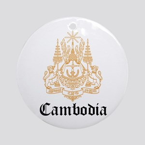 Cambodian Coat of Arms Seal Ornament (Round)