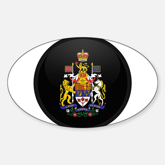 Coat of Arms of Canada Oval Decal