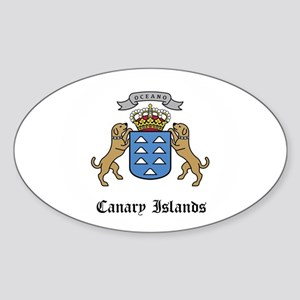 Canary Islander Coat of Arms Oval Sticker