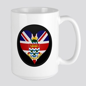 I love CAYMAN ISLANDS Flag Large Mug