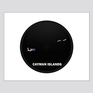 Flag Map of CAYMAN ISLANDS Small Poster